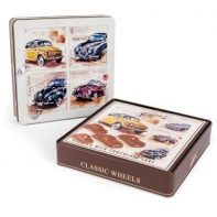 Wheels tin milk chocolate cars 6 x 200g, sold in different designs
